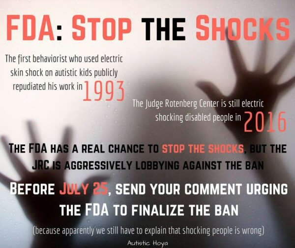 Fda Urged To Ban Shock Devices Used On >> Electric Shock Torture At Judge Rotenberg Center